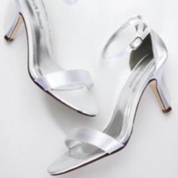 32db38187 David s Bridal white single strap sandal